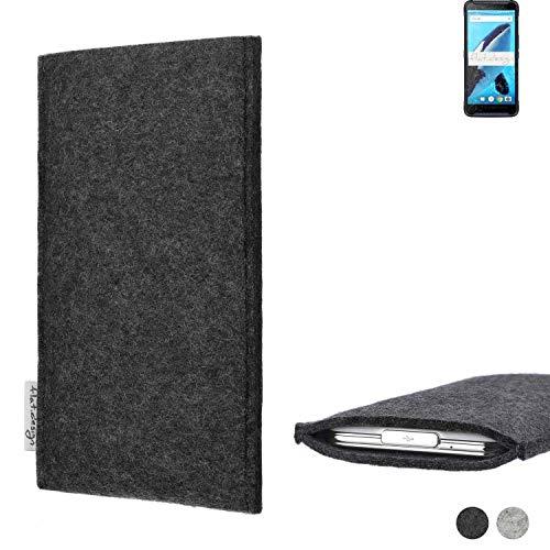 flat.design Handy Hülle Porto für Energizer Hardcase H570S handgefertigte Handytasche Filz Tasche Schutz Hülle fair dunkelgrau