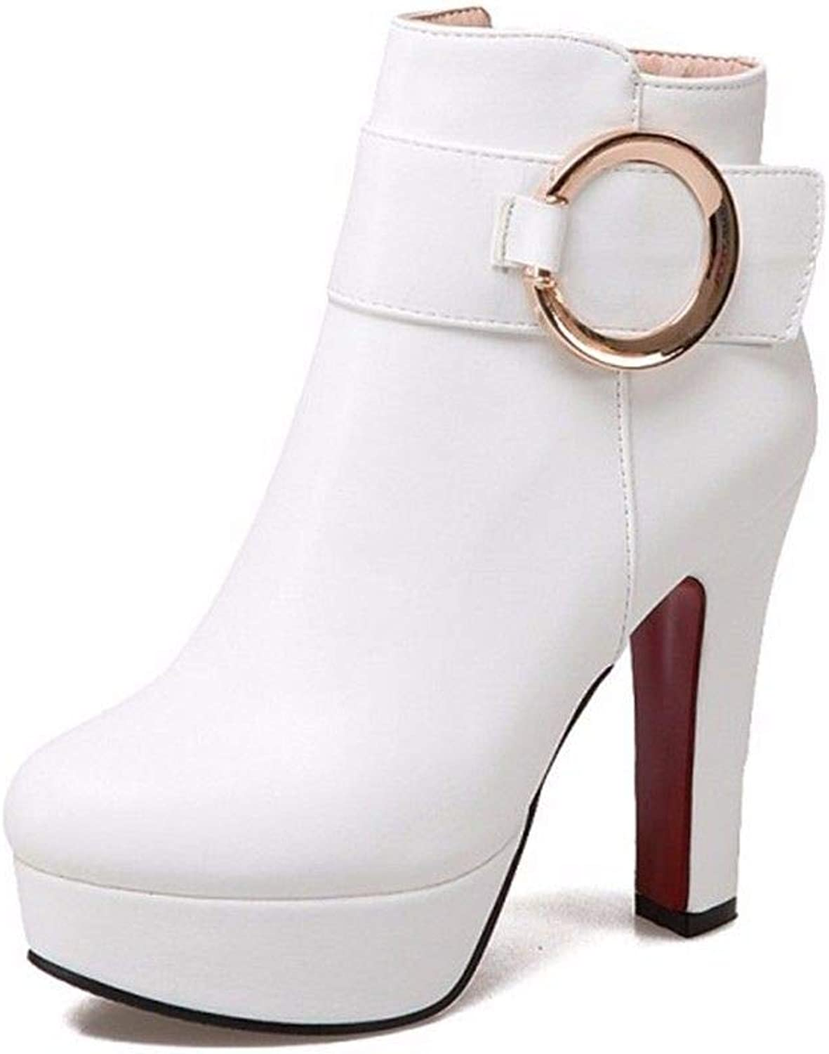 Autumn and Winter Female high-Heeled shoes Waterproof Boots shoes Size
