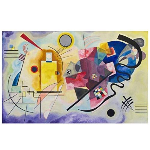 HYFBH Abstrakte Wandkunst Poster und Drucke Berühmte Kunst Leinwand Gemälde Wassily Kandinsky Bild für Wohnzimmer Home Decor Artwork 24x32 Zoll (60x80cm) Kein Rahmen