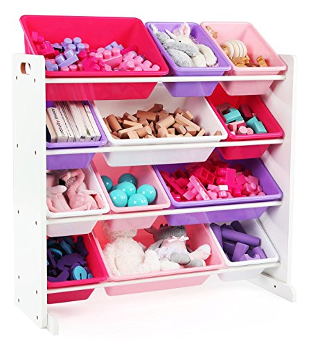 Best Bookshelf for Grandkids with Plastic Bin Style Toy Storage