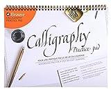 Clairefontaine Brause 96450B - Un bloc à spirale de calligraphie 50 feuilles lignées crème 21x29,7 cm (français et anglais)
