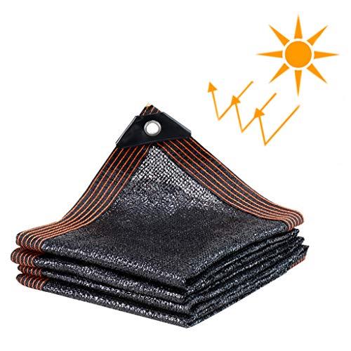 ZZZR Filet d'ombrage extérieur / 80% Tissu d'ombrage Sun Net résistant aux UV, Tissu de Maille de Jardin pour Patio, Couverture végétale, Serre, Noir 23 Tailles écran Solaire