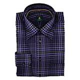 Robert Talbott Lavender and Olive Check Trim Fit Sport Shirt XXL