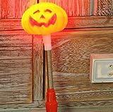 Halloween Pumpkin Stick Bar Puntelli Giocattoli Agitatore flash luminoso Agitatore a mano zucca fluorescenteAttractive