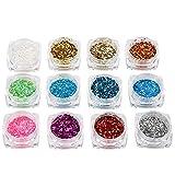 Nail Art Set Nail Art Kit, decora tus uñas 12 colores diferentes Nail Art Rhinestones, para uso profesional