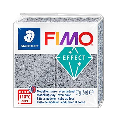 Staedtler - Fimo Effect - Pain Pte à Modeler 57 g Effet Pierre Gris Granit