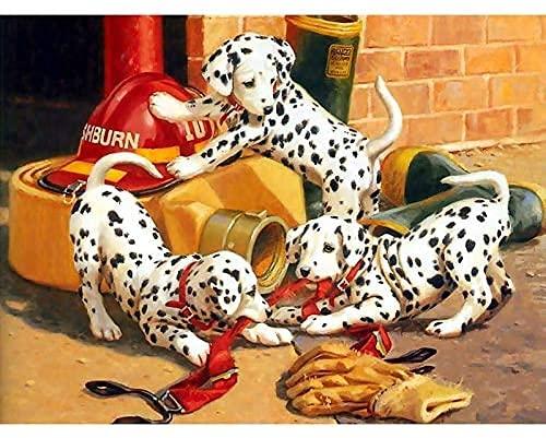 Zaosan DIY Bordado de Diamantes Tres Perros Punto de Cruz 5D Mosaico de Diamantes Pintura de Diamantes de imitación 40 * 50 cm