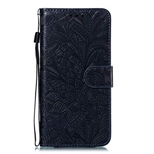 DEEB020760 - Funda de piel tipo cartera para Huawei P30 Pro, con función atril, cierre magnético, con ranuras para tarjetas, color negro