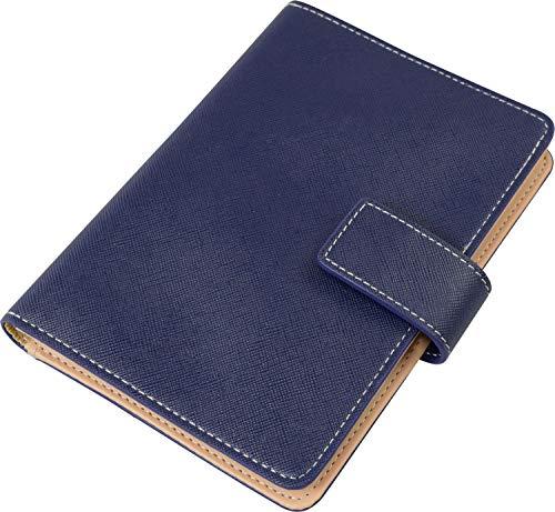 ファイン カードケース 診察券入れ 通院手帳 小銭対応 ネイビー FIN-752NB