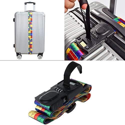 Youliy - Candado de equipaje 3 en 1, multifunción, con código TSA para equipaje de viaje, correa para maleta, correa...