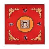 Sanvo Universal Mahjong/Paigow/Poker/Dominos/Game Table Cover,Slip Resistant Mat(Red) 31.5' x 31.5'(80cm x 80cm)