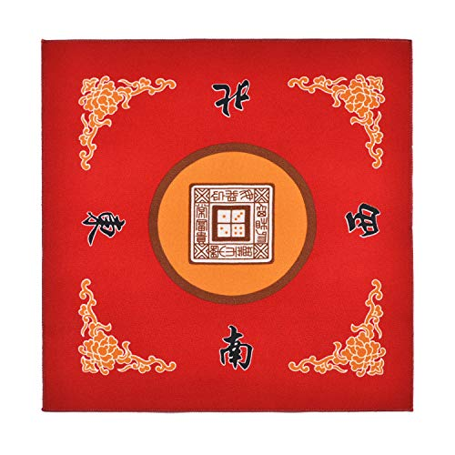 "Sanvo Universal Mahjong/Paigow/Poker/Dominos/Game Table Cover,Slip Resistant Mat(Red) 31.5"" x 31.5""(80cm x 80cm)"