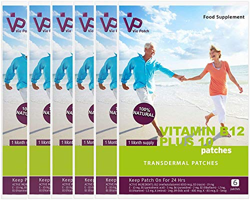 VIE PATCH Vitamin B12 Plus 10 36 Patches, 120 g VP-B12-PLUS10-36NEW