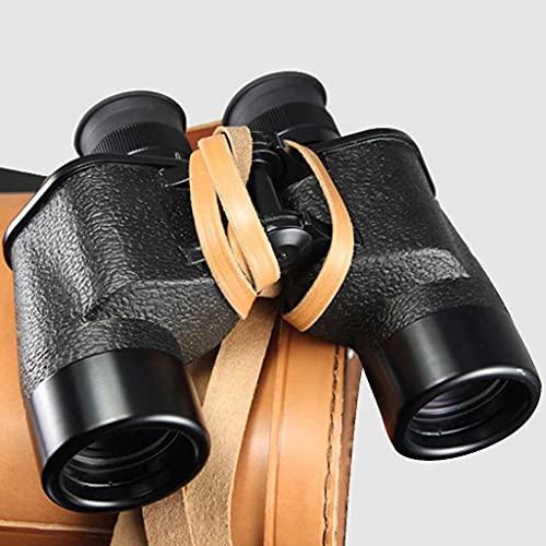 Prismáticos 7 X 40 Militar Prismaticos Potentes Impermeable Puede Medir La Distancia Apto para Reconocimiento, Navegación, Electricidad, Silvicultura, Etc. (Color : Black)