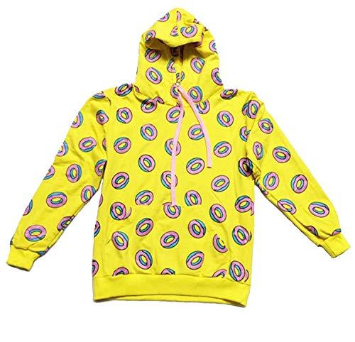 CHAIRAY GOT7 Mark Cap Hoodie Cute Donut Unisex Sweatershirt L Yellow