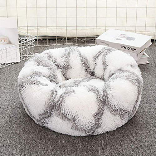 CHSDN Dog Long Plush Dounts Betten Beruhigendes Bett Pet Kennel Super Soft Fluffy Komfortabel für große Hunde- / Katzenhäuser