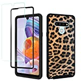 GOLINK Full Body Rugged Shockproof Protective Case with HD Screen Protector for 6.8 inch LG Stylo 6/LG K71-Leopard