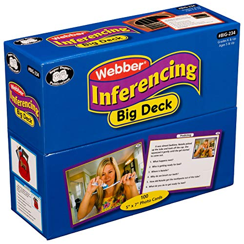 Super Duper Publications | Inferencing Big Photo Flash Cards | Problem Solving, Reasoning and Critical Thinking Skills Fun Deck | Educational Learning Materials for Children