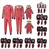 VESNIBA Christmas Family - Conjunto de pijamas largos, para hombre, mujer y niños, diseño navideño #A1/Negro XX-Large