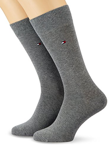 Tommy Hilfiger Herren Socken Th Men Classic 2er Pack, BLICKDICHT, Grau (Middle Grey Melange 758), Gr. 39/42