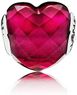 LOVE Charm, Fuchsia Red Crystal, 796600NFR