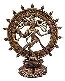 "Ebros Hindu Shiva Nataraja Statue Lord Of The Dance Cosmic Dancer God Statuette Sanskrit Hinduism Supreme Deity Figurine 9""H"