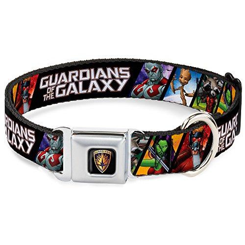 Buckle-Down DC-WMC127-L Seatbelt Dog Collar, Large, Guardians of The Galaxy: Drax-Gamora-Groot-Rocket Raccoon-Star-Lord