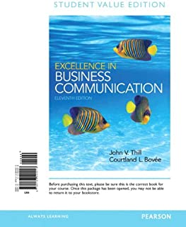 Excellence in Business Communication: Student Value Edition