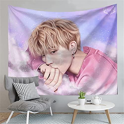 Aatensou BTS Tapiz moderno 3D impresión póster artístico para colgar en la pared como regalo para dormitorio, salón, dormitorio (G12,100 x 150 cm)