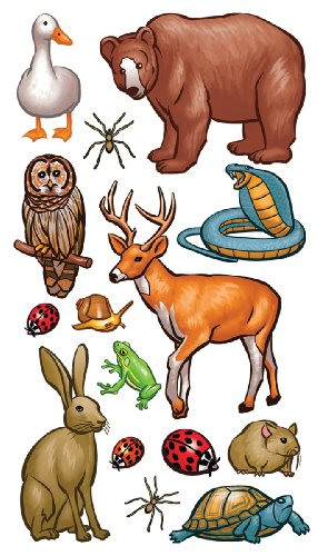 Sticko 415230 Stickers, Forest Animals