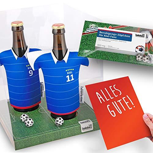 Alles für Kiel-Fans by Ligakakao.de Home-Trikot ist jetzt Mein TRIKOTKÜHLER Geschenk-Set (2X Trikots + 1 ZÄPFCHEN)
