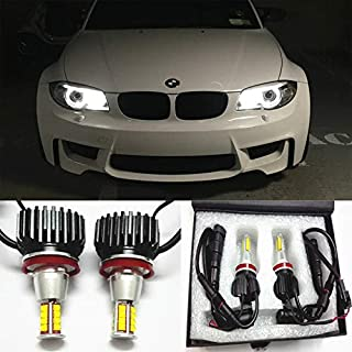 GFJMC 63217760782 Angel Eyes H8 160W CREE LED Marker Halo Light with Fan Dissipation Error Free Canbus CREE LED Marker Halo Light for BMW E82 E93 E92 E89 E70 E71 X6 Z4 M6 M3 F01 F02 730i 740i 750i
