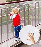 Rete di sicurezza per bambini, Cyiecw protezioni ringhiera resistenti per bambini Sicurezza per scale interne Rotaie Culle Balcone, Facile da installare e utilizzare per bambini Animali domestici