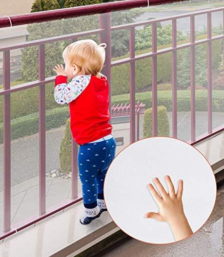 Red de seguridad para niños, Cyiecw Barandillas duraderas Protecciones para niños Seguridad para escaleras interiores Rieles Cunas Balcón, Fácil de instalar y usar para niños Mascotas Juguetes
