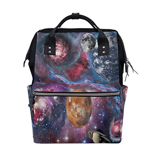Space Landscape Gxy Nebula Solar System Multi-Function Diaper Bags Backpack Travel Bag
