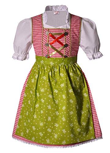 Coala Kinderdirndl Eisenheim rot/grün 3 TLG, Gr. 74/80