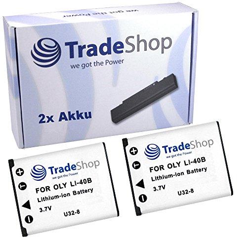 2x Hochleistungs Kamera Li-Ion Akku für Tevion SZ 7 SZ 8 Z 1400 Voigtländer Vito 75 Vitoret U8 Traveller SW-12 Touch One XS-12 XS-40 XS-400 XS-4000 Z-14 Agfa Agfaphoto D016 BenQ DLI-216 / DLI216