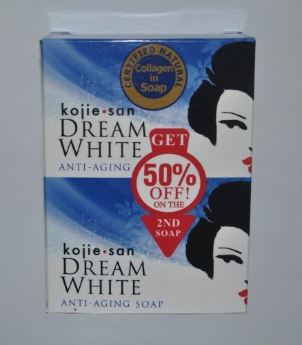 KOJIE SAN SOAP, ALL VARIANTS, FREE SHIPPING (DREAM WHITE WHITENING SOAP 2X135GRAMS) by Kojie San