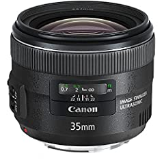 Focal length and maximum aperture: 35mm 1:2 Lens construction: 10 elements in 8 groups Diagonal angle of view: 63 Degree Rear focusing system with USM focus adjustment Closest focusing distance: 0.24m/0.79 ft,Focal Length : 35mm Comparable APS-C 1.6x...