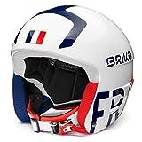 Briko (ZIOIO) Vulcano FIS 6.8-France, Helmet Unisex Adulto, Shiny White Blue Red, 62