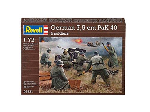 Revell - 02531 - Pak 40 Allemands Avec Soldats - 32 Pièces - Échelle 1/72