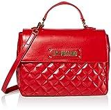Love Moschino Damen Borsa Quilted Nappa Pu Henkeltasche, Rot (Rosso), 21x30x11 Centimeters