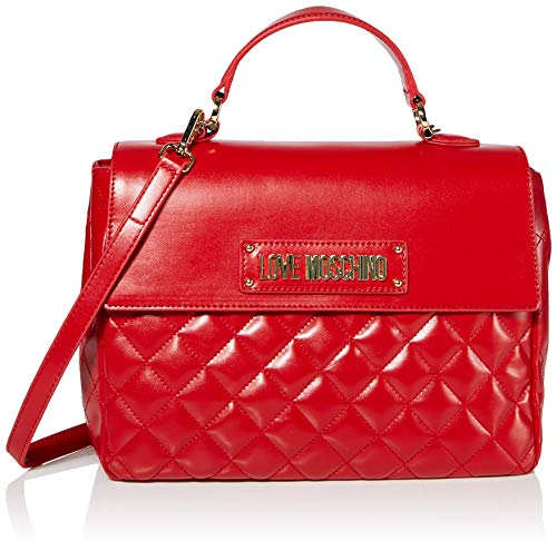 Love Moschino Borsa Quilted Nappa Pu, Mano Donna, (Rosso), 21x30x11 cm (W x H x L)