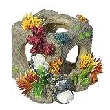 Decoración de acuario Creativo Acuario Decoración de paisajismo Decoración de paisajismo Resina casera de la vendimia Escondite Crianza de camarones Refugio de cueva Refugio de múltiples agujeros
