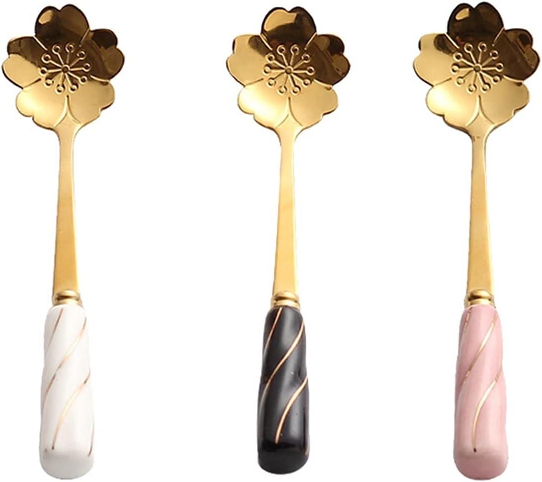 Tablespoons Soup Quantity limited online shop Spoon Dinner Set Creative -Piece 3 Floral