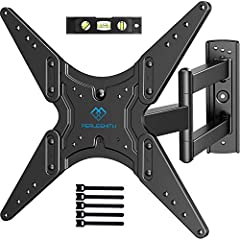 🤗UNIVERSAL DESIGN: Our TV bracket fits most 26 - 55 inch TVs weighing up to 88lbs/40kg. Removable extender brackets forms different combinations achieving one stop solution for most medium TVs, compatible faceplate fits VESA 400x400mm/400x300mm/400x...