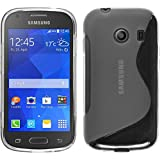 PhoneNatic Case kompatibel mit Samsung Galaxy Ace Style - Clear Silikon Hülle S-Style + 2 Schutzfolien