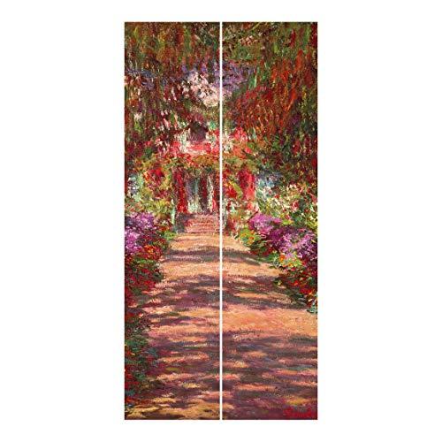 Bilderwelten Cortinas deslizables - C. Monet - 2 Paneles japoneses Montaje de Pared 250x120cm