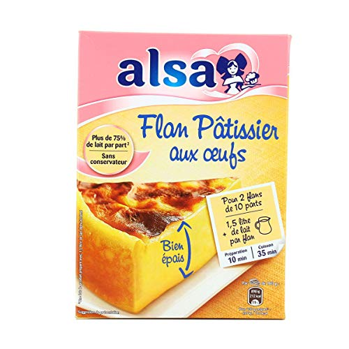 Gourmet Food Gifts! - ALSA Préparation Flan Pâtissier Aux Œufs 720 g (2 sachets) Pink