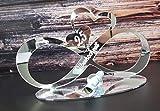 MK Schoenes Endlosschleife Silberhochzeit - 25 cm - Spiegelacryl